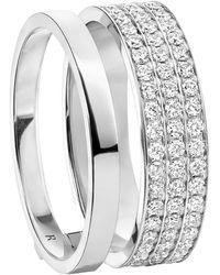 Repossi Berbere Module 2 Row Diamond Pave Ring - Metallic