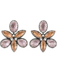 Larkspur & Hawk Sadie Orchid Ballet Stud Earrings - Metallic