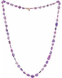 Sutra Purple Sapphire Necklace - Metallic