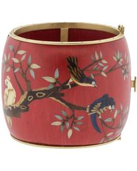 Silvia Furmanovich - Marquetry Red Birds Bracelet - Lyst