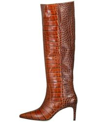 Ulla Johnson Croc Jett Boot - Brown