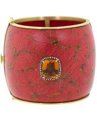 Silvia Furmanovich Marquetry Red Ginko Bracelet