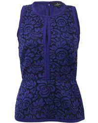 J. Mendel - Halter Top With Lace Embroidery - Lyst
