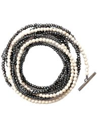 Brunello Cucinelli - Riverstone And Glass Bead Necklace/bracelet - Lyst
