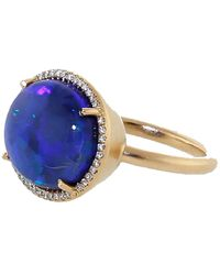 Irene Neuwirth Opal Diamond Pave Ring - Multicolour