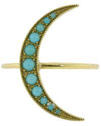 Andrea Fohrman Medium Turquoise Luna Ring - Multicolour