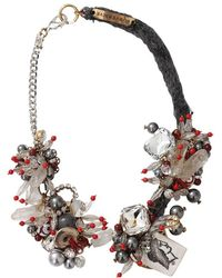 Subversive Jewelry Roman Coin Wreath Necklace - Multicolour