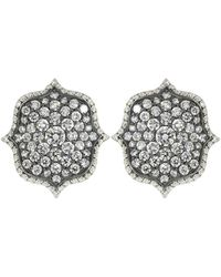 Bayco Diamond Lotus Earrings - Multicolour