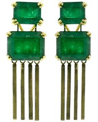 Sylva & Cie - Brazilian Emerald Earrings - Lyst