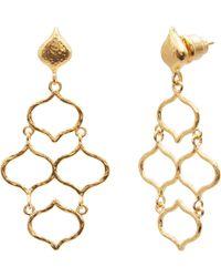 Gurhan Small Trellis Chandelier Earrings - Multicolour