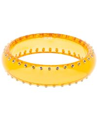 Mark Davis Clear Orange Bakelite Bangle