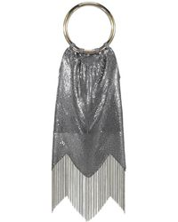 Whiting & Davis - Duotone Fringe Bracelet Bag - Lyst