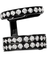 Repossi Berbere Module 3 Pave Diamond Row Earcuff - Multicolour
