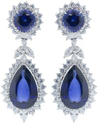 Fantasia by Deserio - Cubic Zirconia Marquise Drop Earrings - Lyst
