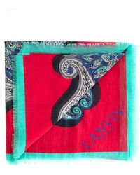 Lanvin Printed Scarf - Red