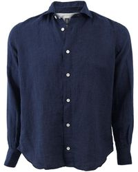 Eleventy Printed Shirt - Blue