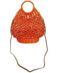 Serpui Lara Crochet Basket Bag - Orange