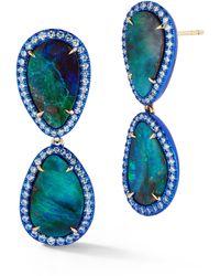 Katherine Jetter Boulder Opal Blue Enamel Earrings