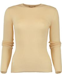Michael Kors - Ribbed Cashmere Top - Lyst