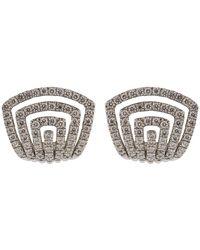 Dana Rebecca Diamond Pave Huggie Earrings - Multicolour