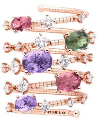 Mattia Cielo Rugiada Five-circle Wrap Rainbow Ring - Multicolor