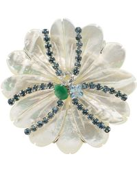 Bounkit Mother Of Pearl Pin - White