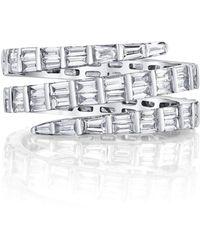 Anita Ko - Three Row Baguette Diamond Coil Ring - White Gold - Lyst