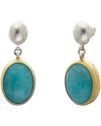 Gurhan Amazonite Galapagos Sterling Silver Drop Earrings - Metallic