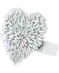 Suzanne Kalan Large Heart Diamond Ring - Metallic