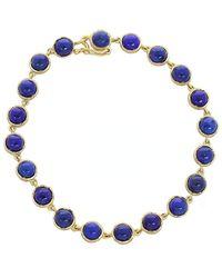 Irene Neuwirth Cabochon Lapis Bracelet - Blue