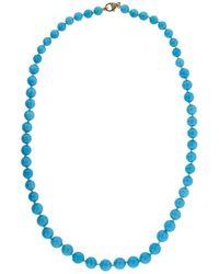Sylva & Cie - Sleeping Beauty Turquoise Bead Necklace - Lyst