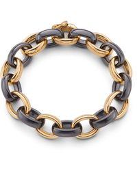 Monica Rich Kosann Marilyn Black Ceramic Link Bracelet - Multicolour
