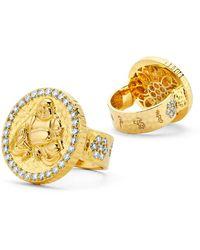 Buddha Mama Hammered Buddha Coin Ring - Metallic