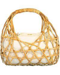 Cult Gaia Natural Tan Aviva Top Handle Bag