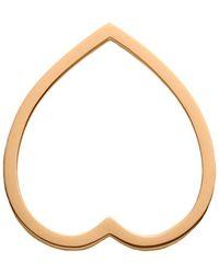 Repossi Rose Gold Antifer Pave Diamond Heart Ring - Metallic