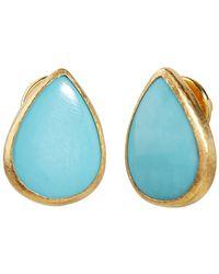 Gurhan Rune Turquoise Stud Earring - Blue