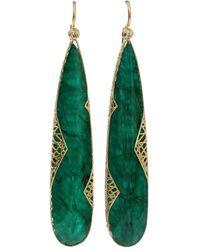 Yossi Harari Emerald Slice Lace Earrings - Multicolour