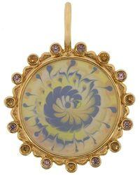 Marlo Laz Spiral Tie Dye Sapphire Amulet - Multicolour
