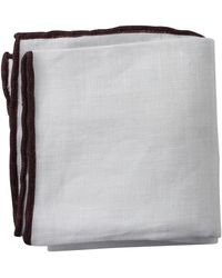 Brunello Cucinelli - Tipped Pocket Square - Lyst