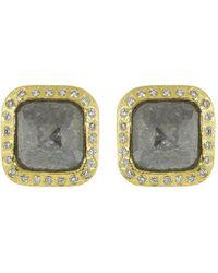 Todd Reed Fancy Diamond Stud Earrings - Multicolor