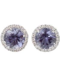 Dana Rebecca - Anna Beth Iolite Stud Earrings With Diamond Pave - Lyst