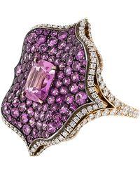 Bayco Sapphire Lotus Ring - Pink