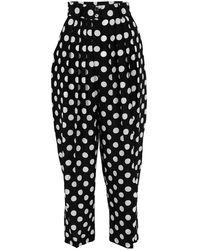 Michael Kors Polka Dot Pleated Trouser - Black