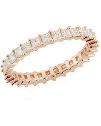 Dana Rebecca Rose Gold Millie Ryan Diamond Eternity Ring - Metallic