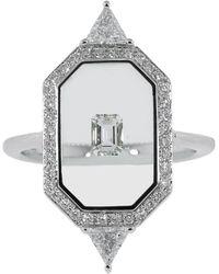 Nikos Koulis Universe Diamond Ring - Metallic
