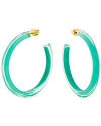 Alison Lou - Turquoise Lucite Jelly Hoop Earrings - Lyst
