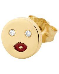 Alison Lou Single Mwa! Happy Face Stud - Multicolor