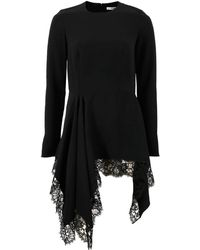 Givenchy - Peplum Lace Top - Lyst