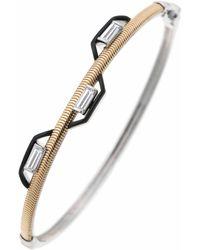 Nikos Koulis Baguette Diamond Feelings Bracelet - Metallic