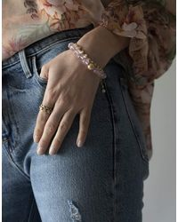 Dana Rebecca Lulu Jack Single Row Bezel Bracelet - Multicolour